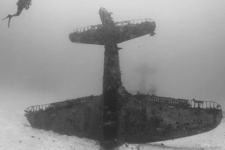 Diver Discovers Lost Underwater Airplane Graveyard